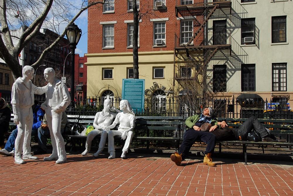 曼哈頓/紐約/克里斯多福公園/石牆騷動事件/同性戀雕像