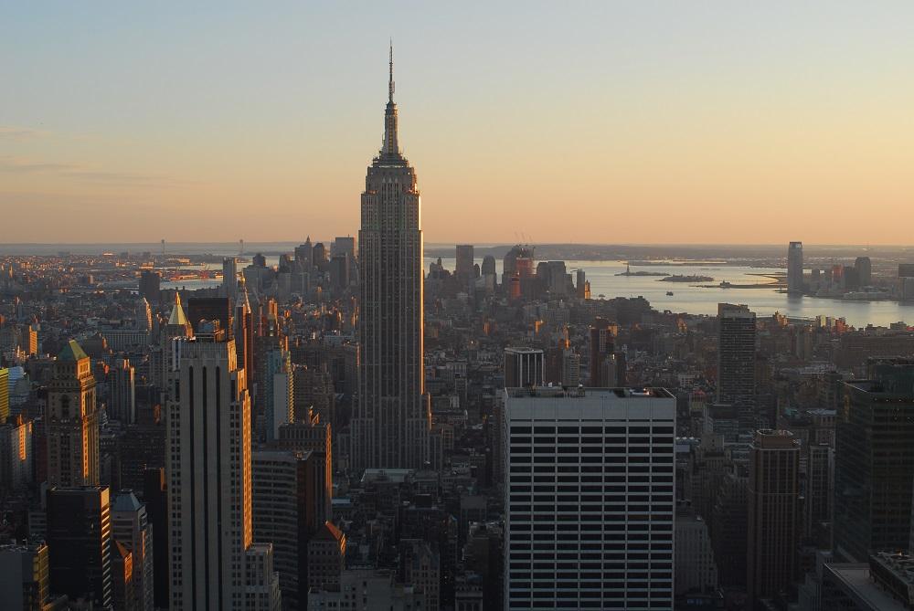 美國/紐約/曼哈頓/洛克斐勒中心/城市天際線