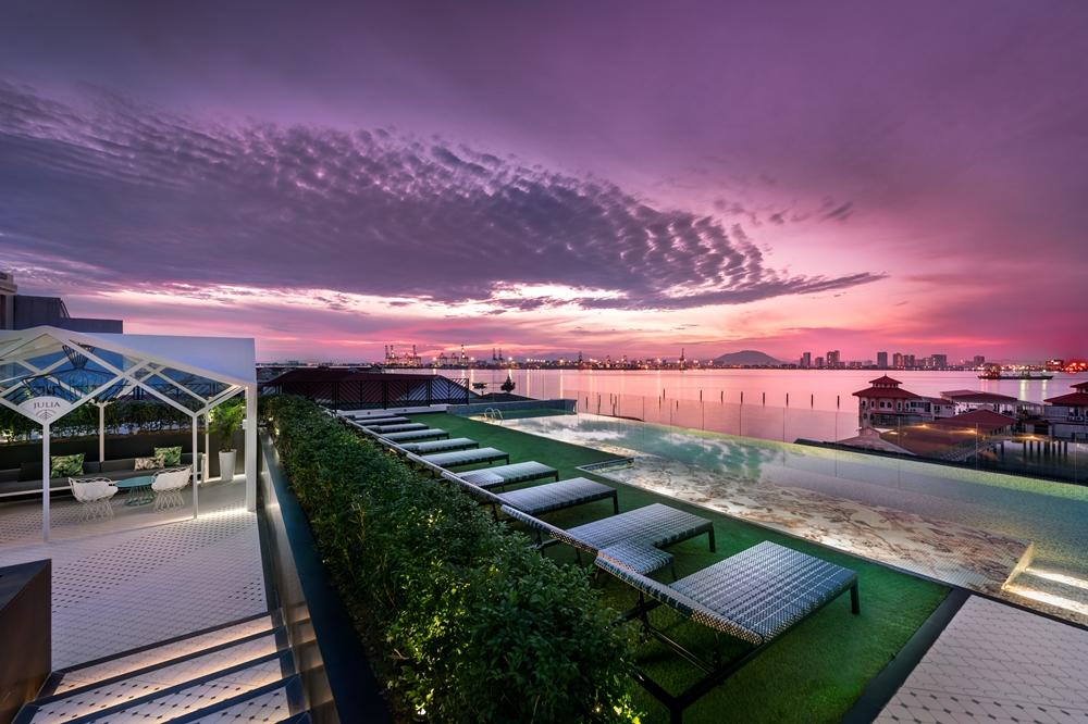泳池/The Prestige Hotel/純白系飯店/世界文化遺產之城/喬治城/馬來西亞