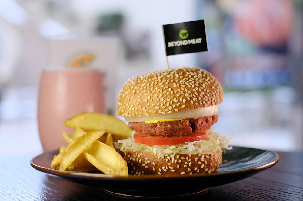 台北/微風廣場/未來肉/V Burger/蔬食漢堡
