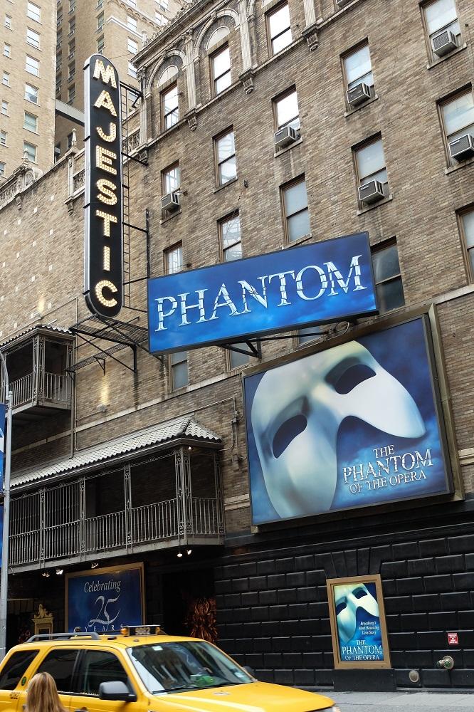 紐約/曼哈頓中城/百老匯/經典舞台劇/歌劇魅影