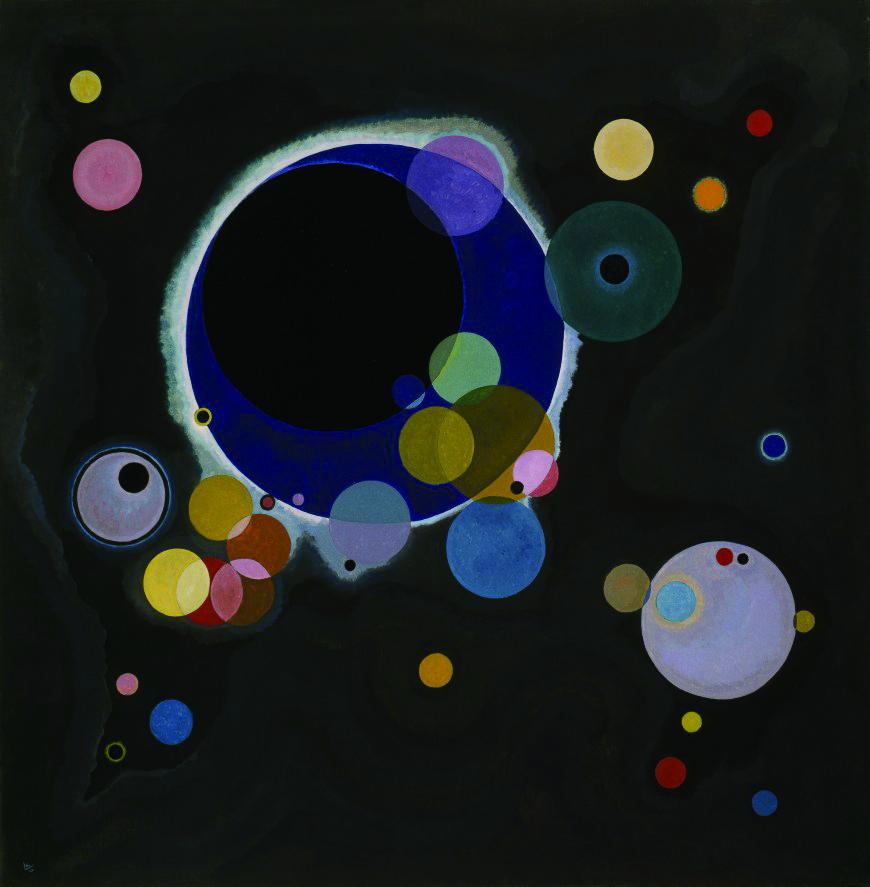 紐約/古根漢美術館/建築藝術/康丁斯基《幾個圓形》