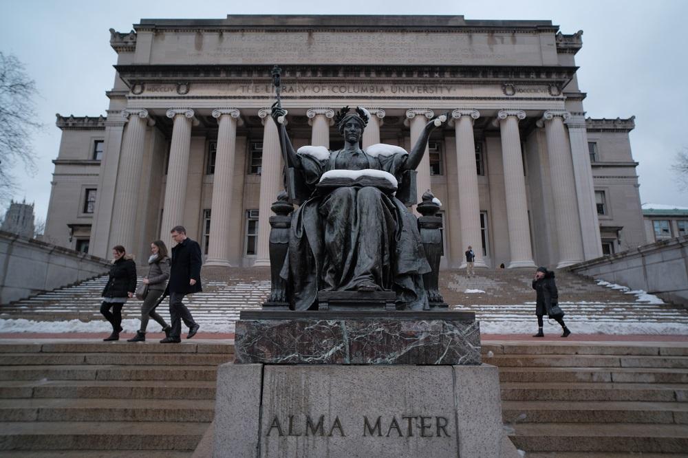 紐約/曼哈頓/哥倫比亞大學/常春藤名校/洛氏紀念圖書館/ALMA MATER