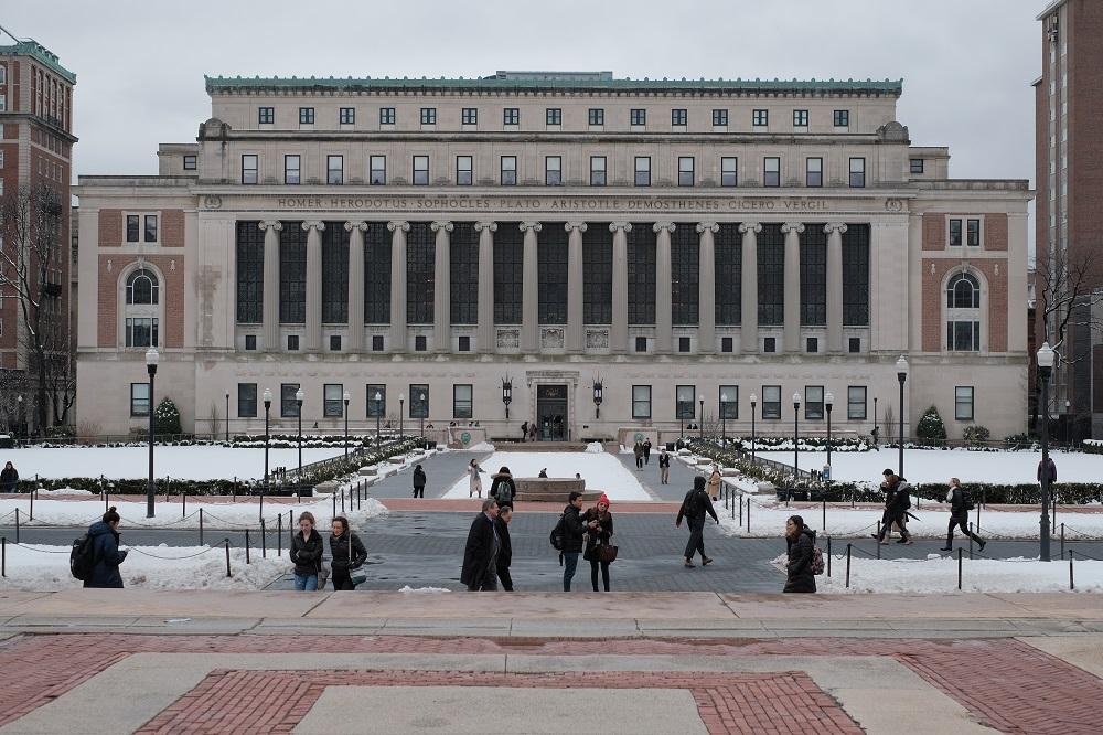 曼哈頓/哥倫比亞大學/常春藤名校/巴特勒圖書館