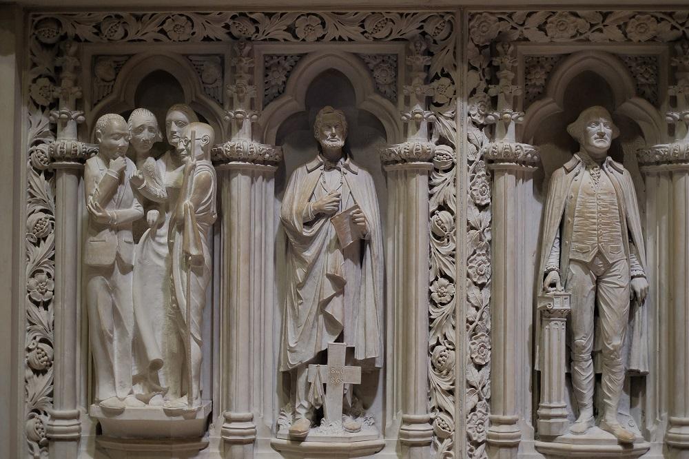 未完成的聖約翰/聖約翰神明座堂/紐約/絕美教堂/雕像/甘地