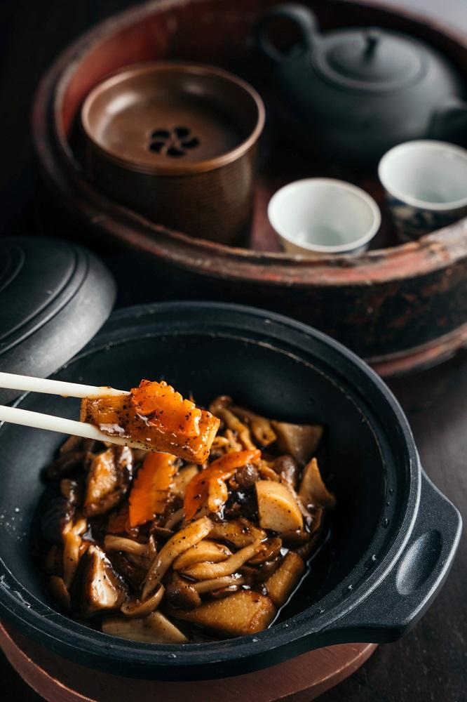 台北米其林蔬食/黑松露野菇豆腐煲/台北文華東方酒店/雅閣