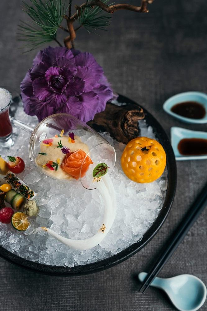 台北米其林蔬食/蔬食餐廳/食尚藝術/冰梅雪物/鈺善閣
