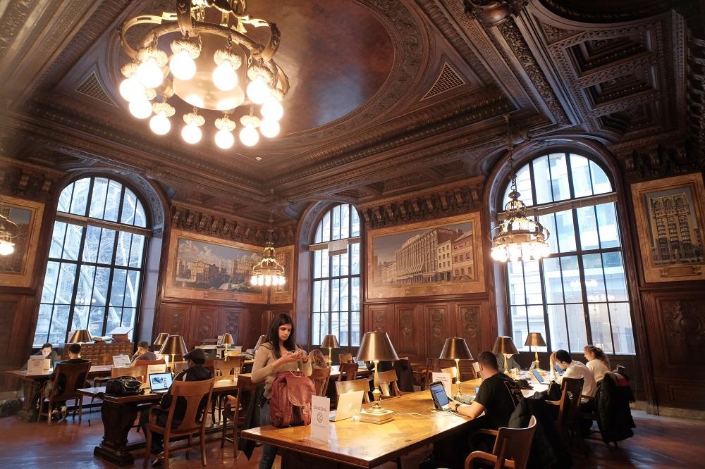 紐約/曼哈頓/紐約公共圖書館/絕美圖書館/閱覽室