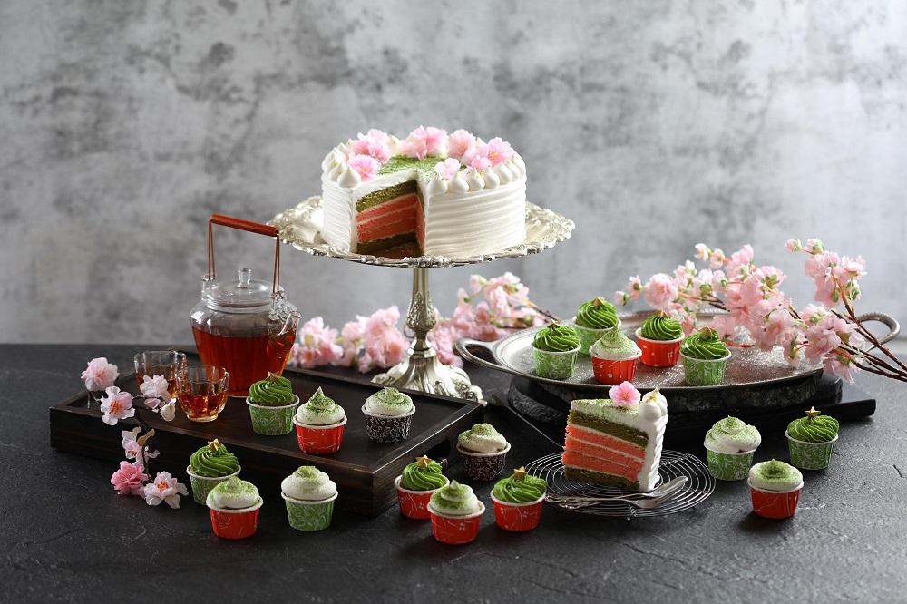 50樓Café/台北旅遊/美食推薦/抹茶奶油杯子蛋糕/櫻花抹茶鮮奶油蛋糕
