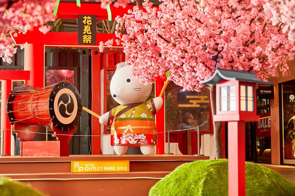 台灣三井OUTLET台中港/台中/櫻花季/春櫻花見祭/神社鳥居