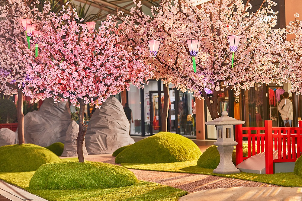台灣三井OUTLET台中港/台中/櫻花季/春櫻花見祭/假山造景