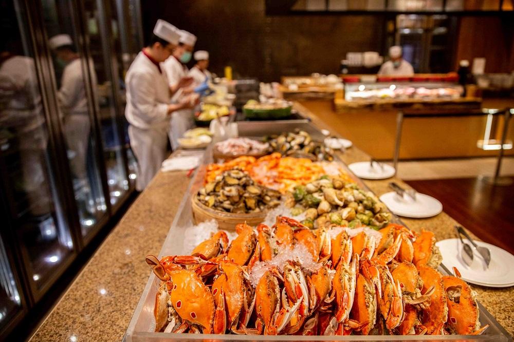 台北美福大飯店/美福四周年旅展/螃蟹/免費吃自助餐
