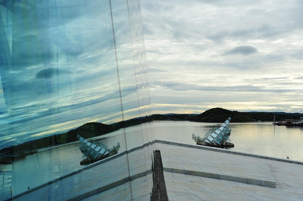 北歐建築/奧斯陸歌劇院/挪威/挪威峽灣/玻璃窗/現代化風格
