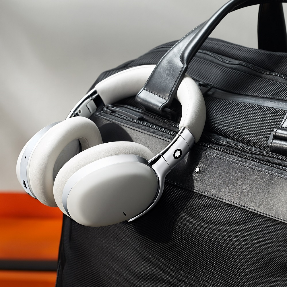 萬寶龍/MB01全罩式智能耳機/時尚耳機/抗噪高音質/長途飛行必備/灰色款