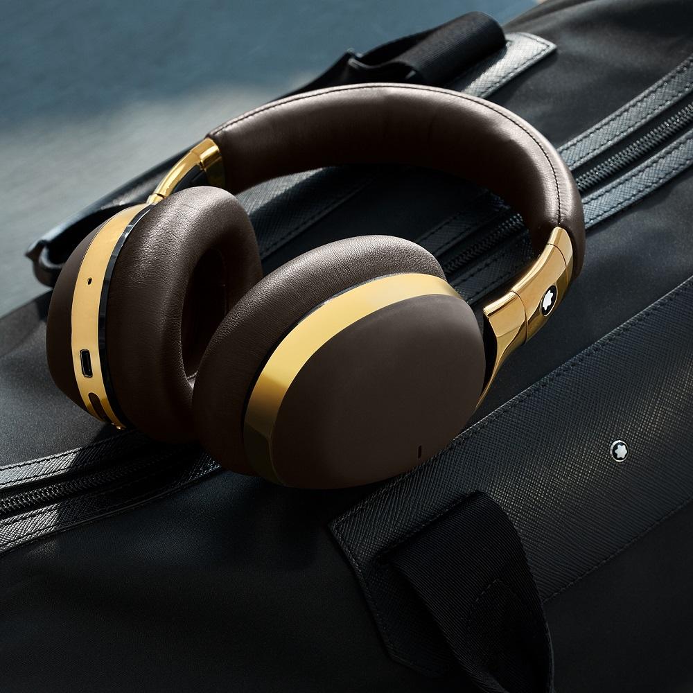 萬寶龍/MB01全罩式智能耳機/時尚耳機/抗噪高音質/長途飛行必備/黑色款