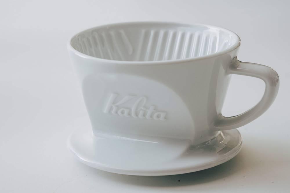 Kalita 波佐見燒白色陶瓷梯形濾杯/咖啡器物/學長/VV Cafe 販售平台