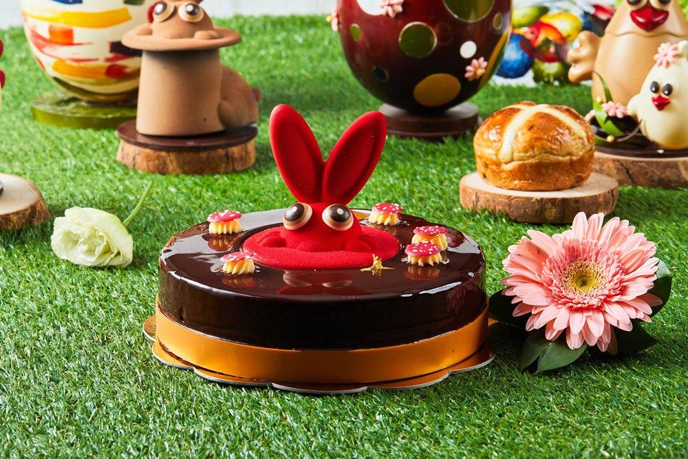 台北旅遊/台北新板希爾頓酒店/美食推薦/復活節/鏡面巧克力/復活節蛋糕
