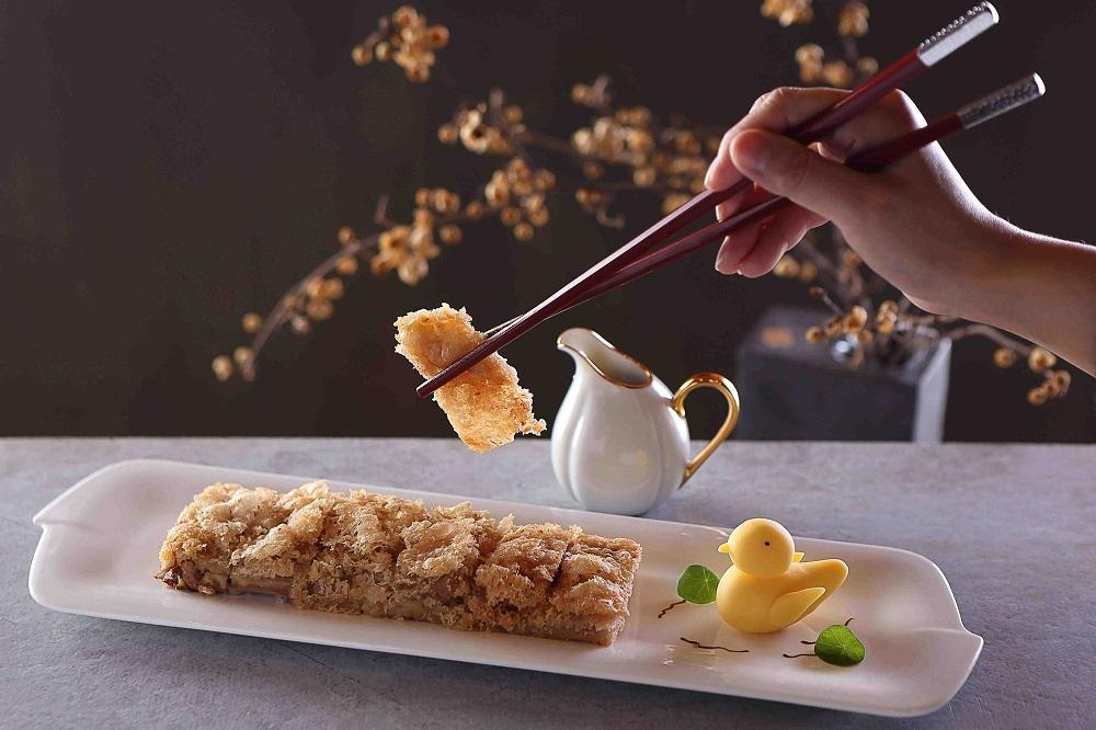 50樓Café/台北旅遊/美食推薦/望月樓/荔茸香酥鴨