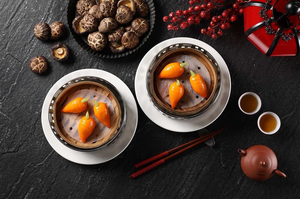 50樓Café/台北旅遊/美食推薦/望月樓/牛肝菌素餃