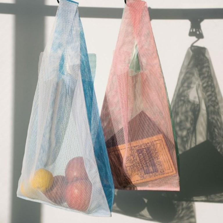 日本 Amabro 拼接撞色防水購物袋/瑪黑家居選物