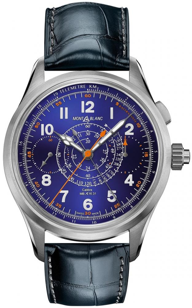 萬寶龍1858系列雙秒追針計時碼錶限量款/手錶