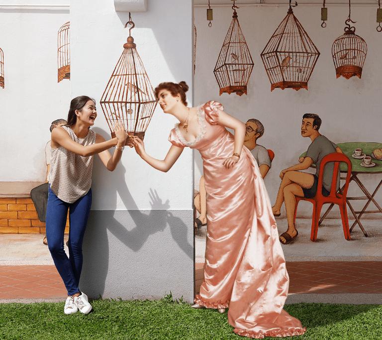 古人踩街油畫體驗/新加坡旅遊局