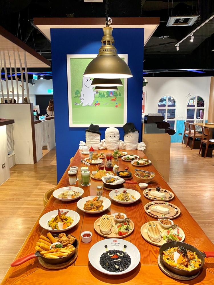 菜單/店裡打卡/Moomin Café 嚕嚕米主題餐廳/信義區/台北