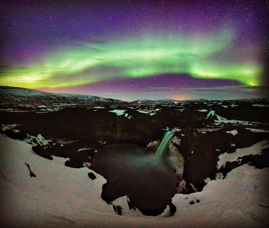 冰島極光/阿爾德亞瀑布