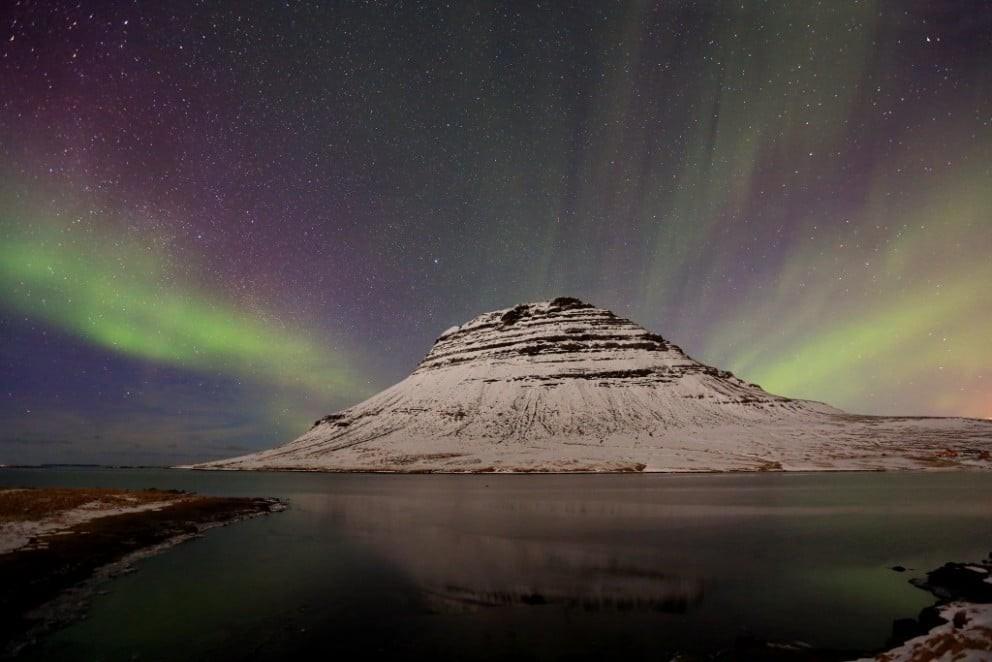 冰島極光/教堂山