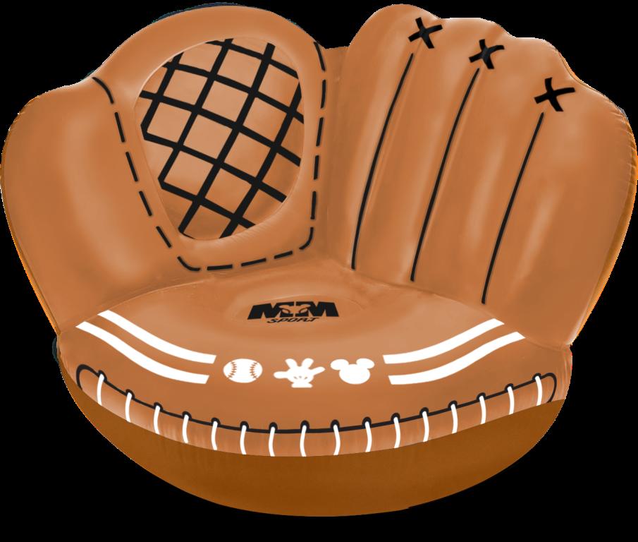 限量棒球手套造型充氣沙發/米奇集點活動/7-ELEVEN/迪士尼/台灣