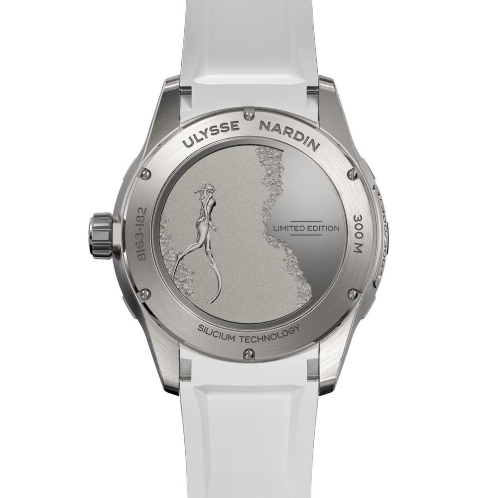 美人魚潛水錶LADY DIVER錶背圖/瑞士雅典錶/Alessia Zecchini