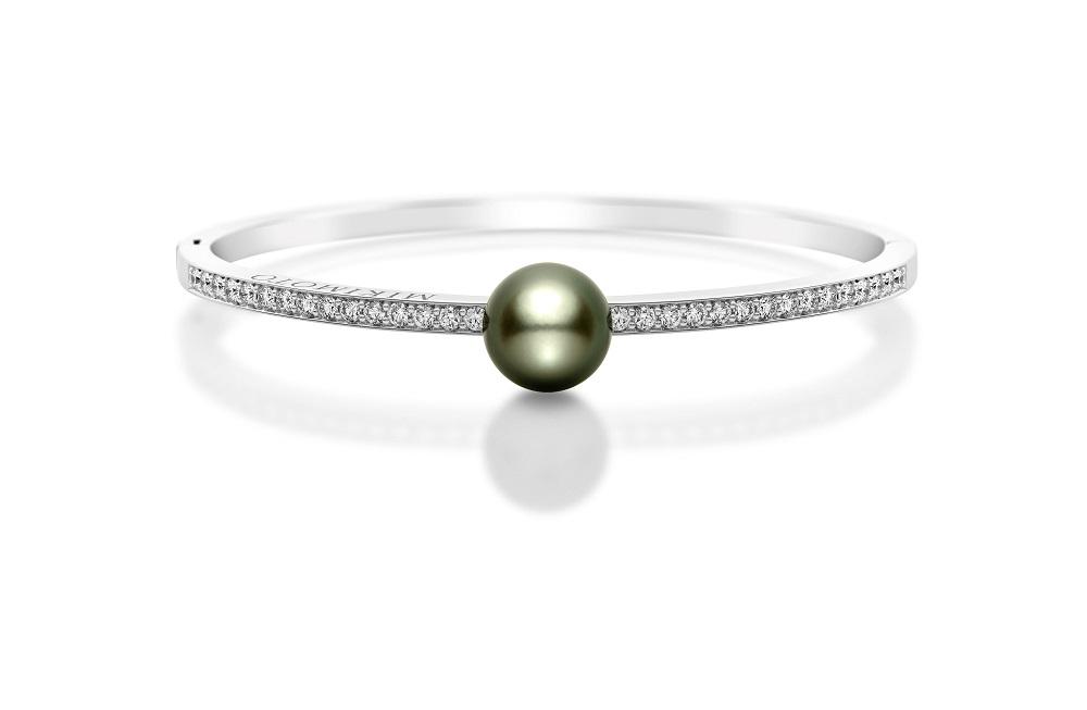 黑珍珠鑽石手環/ MIKIMOTO/台灣/情人節禮物