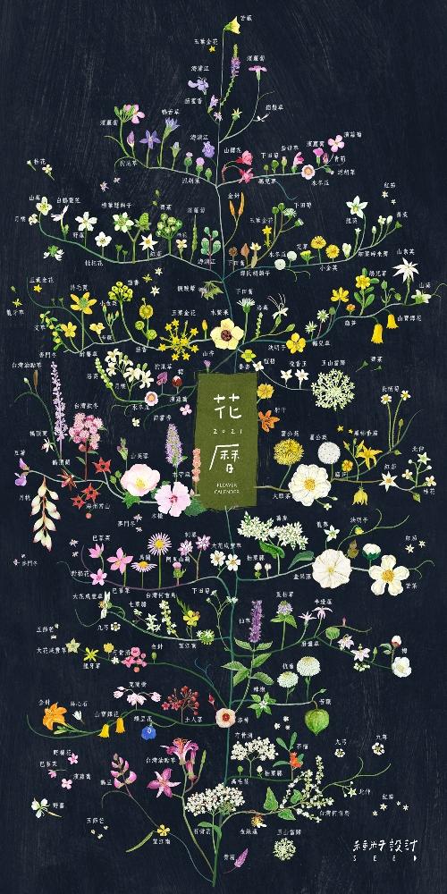 2021年花曆封面/種籽設計/後疫情時代/台灣