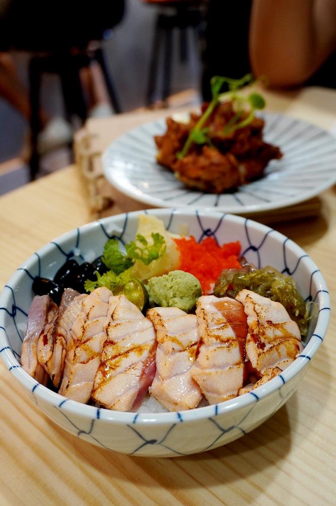 炙燒鮭魚丼/THE 春/日式料理/美食/台北/台灣