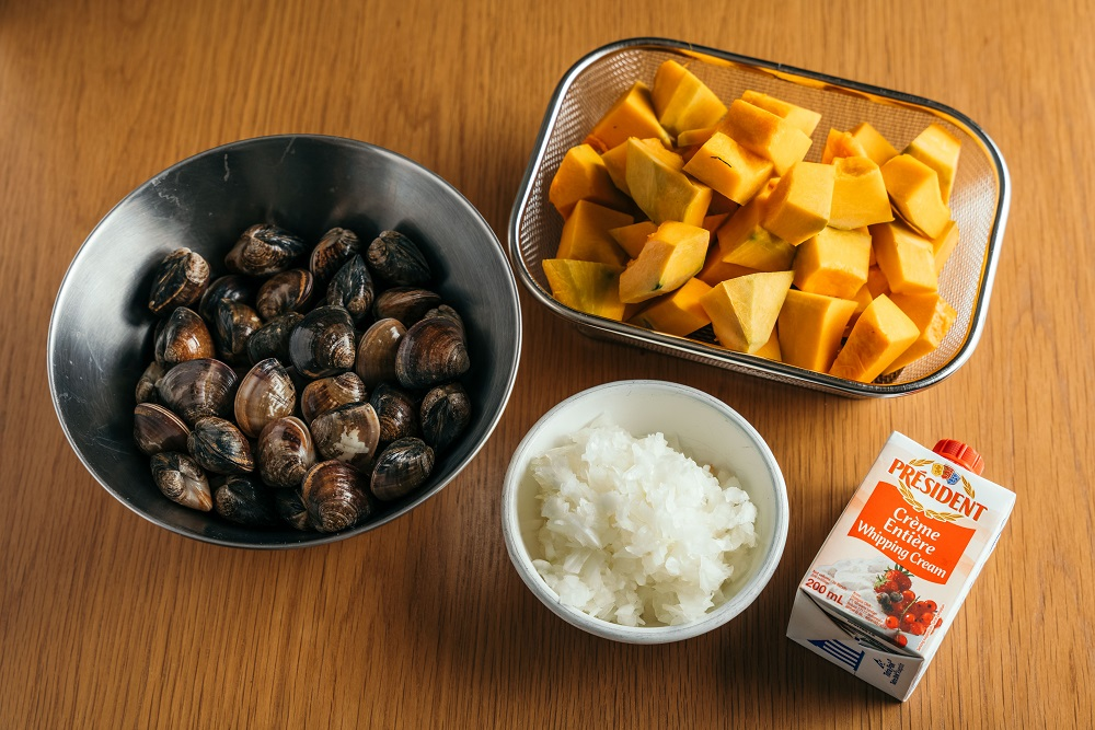 蛤蜊南瓜濃湯/下酒菜/美食/台灣