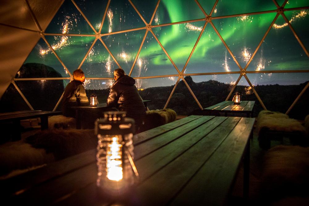 Aurora Basecamp/旅遊/極光基地營/極光/篝火/冰島