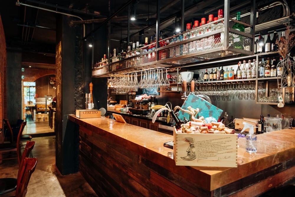內部酒櫃/Cantina del Gio/美食/義大利餐酒館/原木柴燒料理/台北/台灣