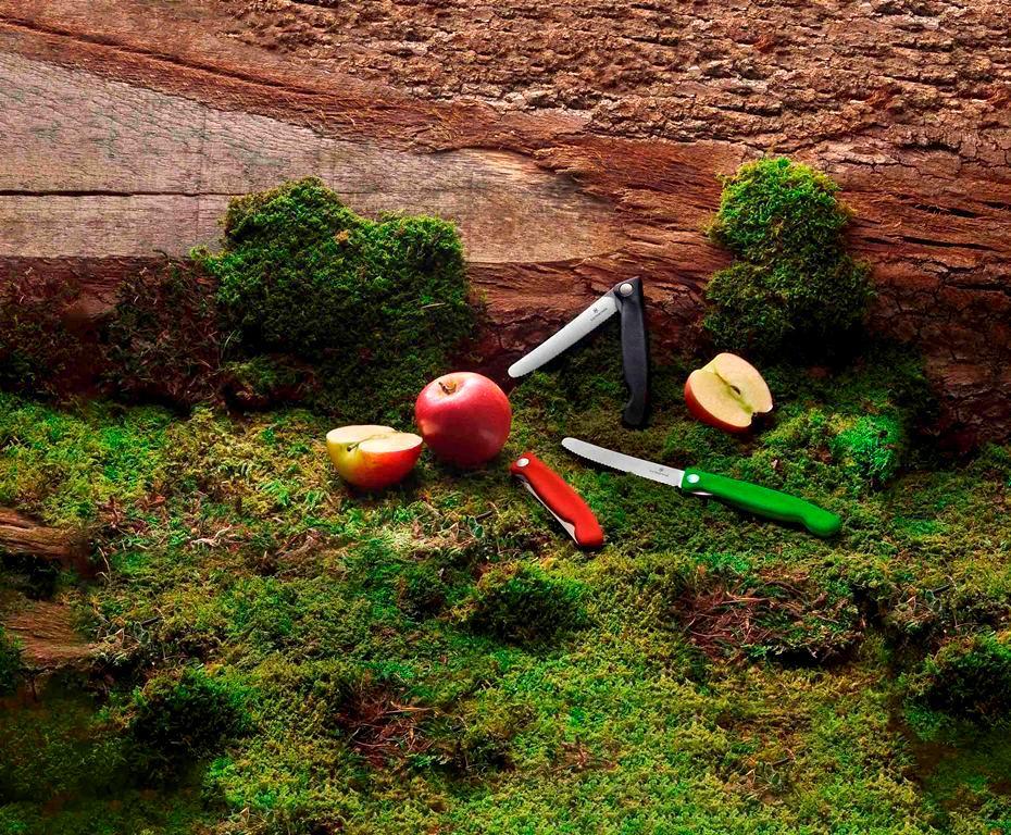 折疊式蔬果廚刀/Swiss Classic/森林綠系列/VICTORINOX/戶外配備/VICTOR