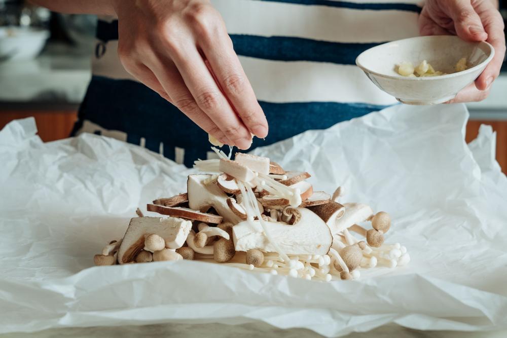 奶油紙包烤菇/下酒菜/美食/台灣