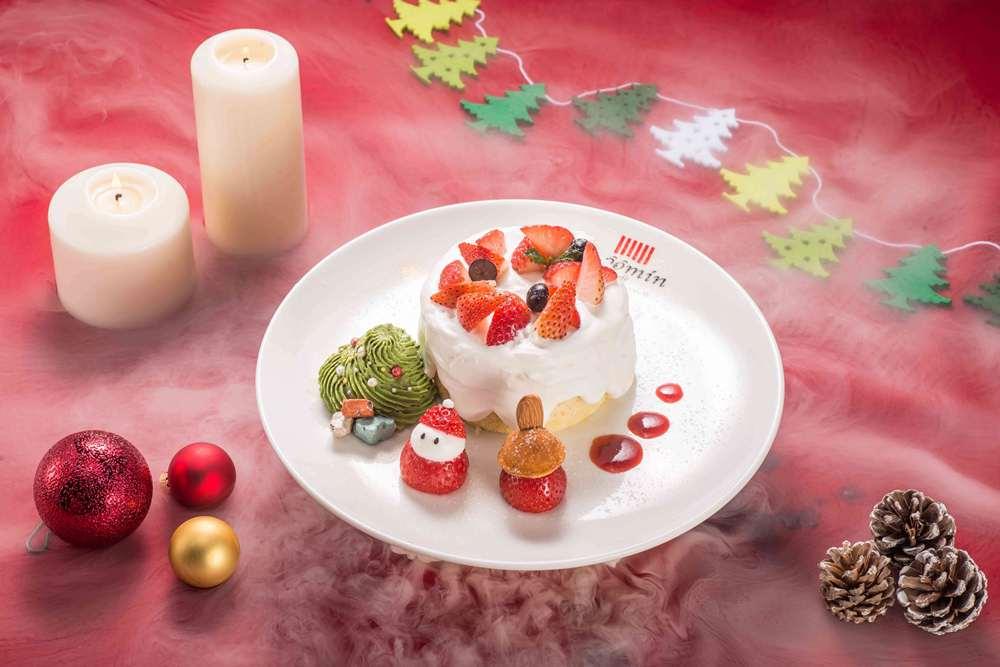 草莓鮮奶油蛋糕/小不點的秘密森林/嚕嚕米聖誕雙人分享餐/嚕嚕米主題餐廳/信義區/台北/台灣
