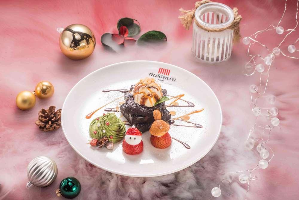 核桃巧克力蛋糕/小不點的秘密森林/嚕嚕米聖誕雙人分享餐/嚕嚕米主題餐廳/信義區/台北/台灣