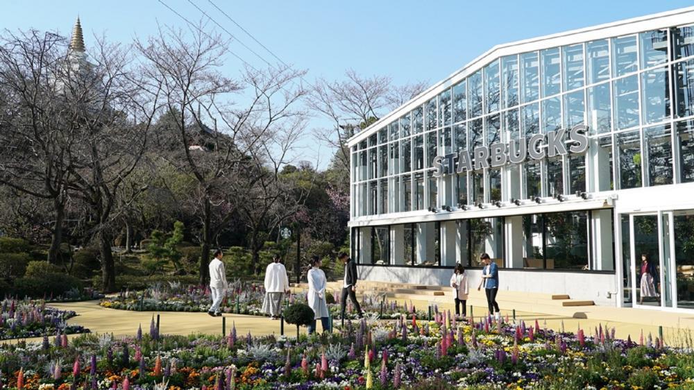 外觀/星巴克/HANA・BIYORI/美食/新未來花園/東京/日本