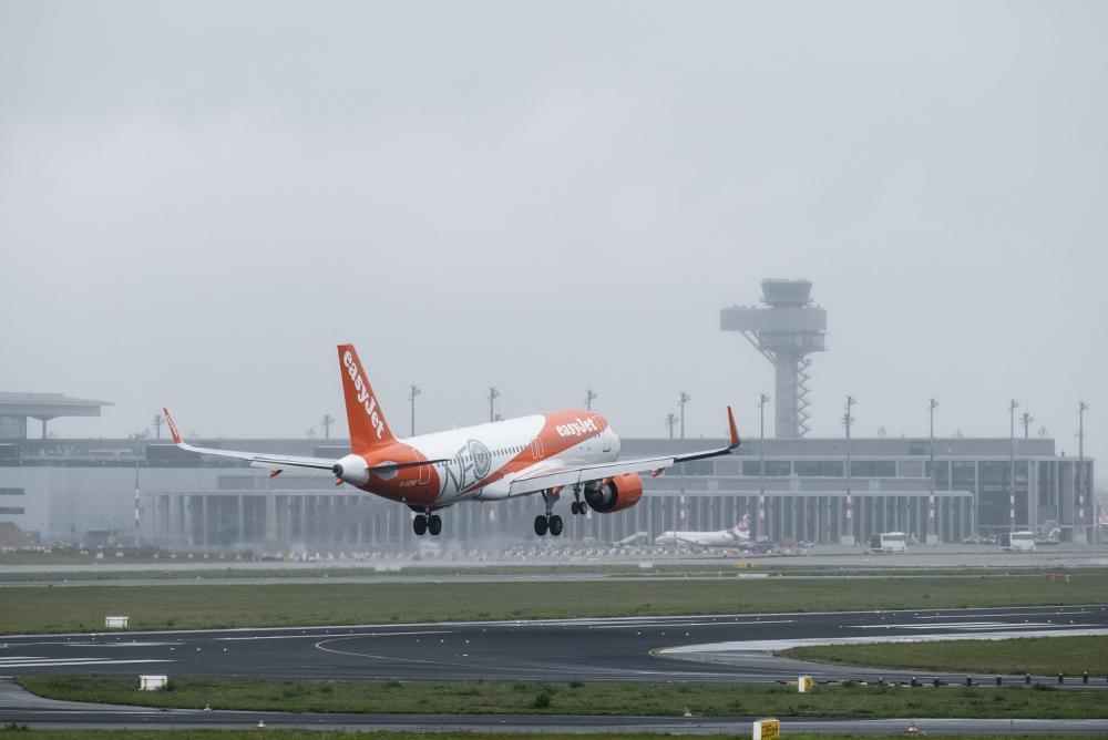 飛機/旅遊/蘭登堡機場/柏林/德國