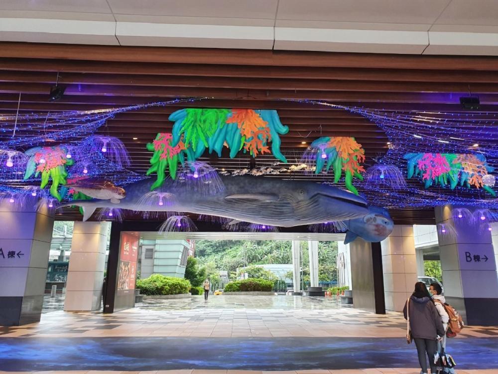 藍鯨裝飾/一樓廣場 /CITYLINK/南港/台北/台灣