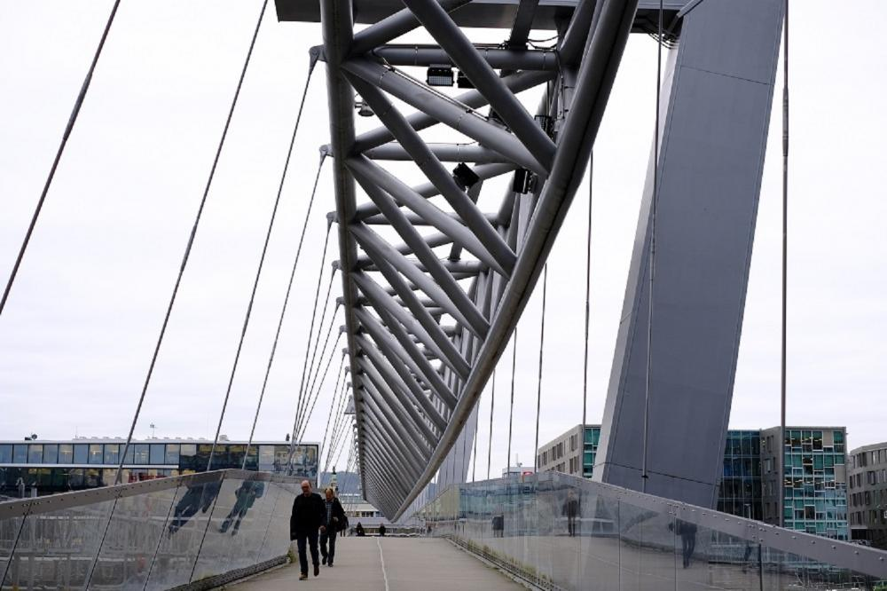 Akrobaten 步行橋/旅遊/中央車站鐵道/挪威/歐洲