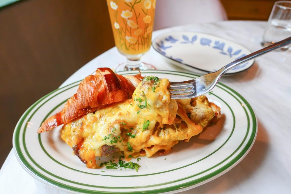 和牛起司松露蛋可頌 260元/Les Africot/早午餐/北歐風情/美食/永康街/台北/台灣