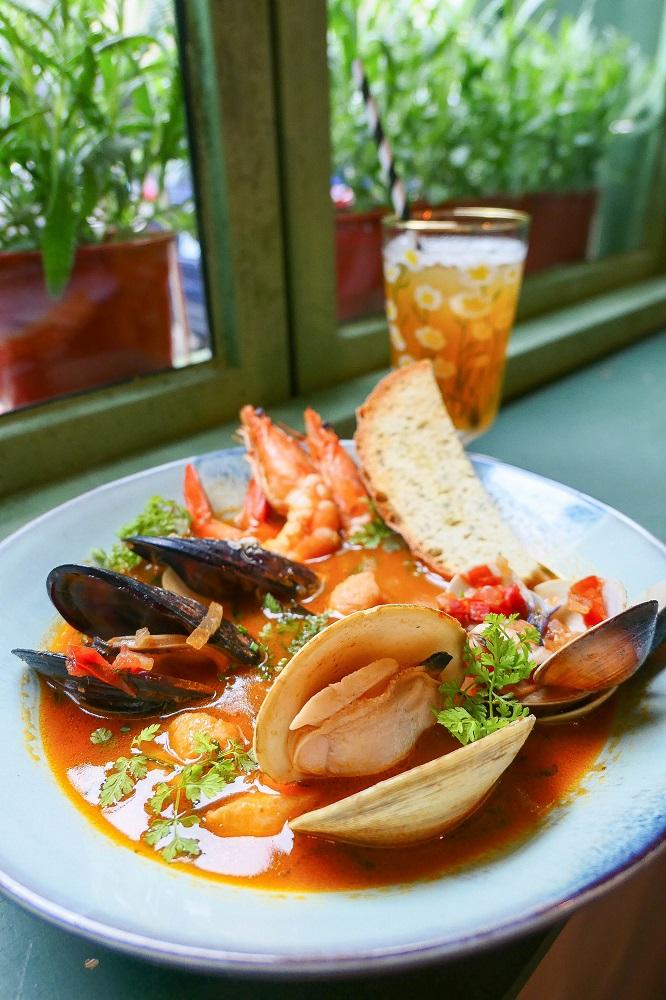 舊金山燴海鮮佐義式小米麵/Les Africot/早午餐/北歐風情/美食/永康街/台北/台灣