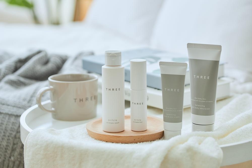平衡身體乳/THREE/茶籽油/化妝品/日本