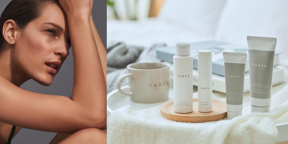平衡護手霜/平衡身體乳/THREE/茶籽油/化妝品/日本