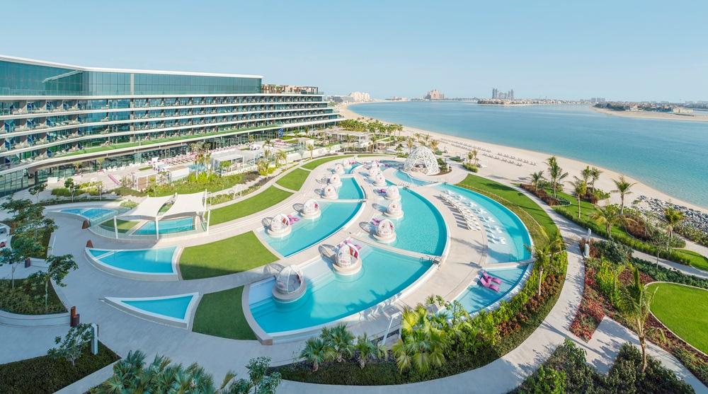 飯店外觀/W Dubai - The Palm/絕景旅館/藝術設計/海濱/杜拜/阿聯